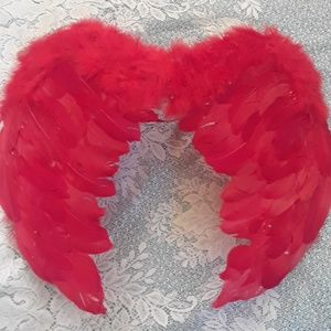 Red Feather Costume Wings